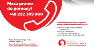 Plakat dotyczący Tygodnia Pomocy Ofiarom Przestępstw