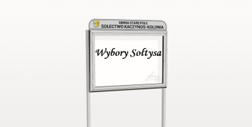 Tablica informacyjna w sołectwie Kaczynos-Kolonia