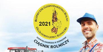 Plakat zachęcający do udziału w XVIII Ogólnokrajowym Konkursie Bezpieczne Gospodarstwo Rolne