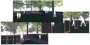 Wizualizacje parku linowego