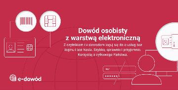 Infografika dotycząca dowodu osobistego z warstwą elektroniczną