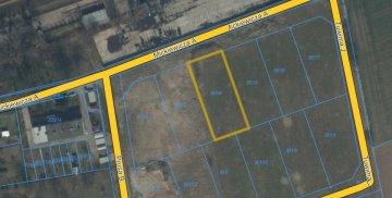 Mapa z naniesioną lokalizacją nieruchomości do sprzedaży
