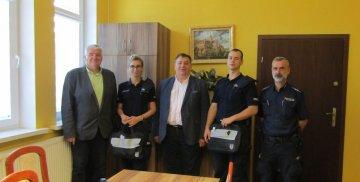 Spotkanie Wójta Gminy Stare Pole z policjantami