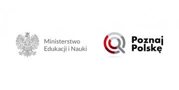 Logotyp Ministerstwa Edukacji i Nauki oraz programu Poznaj Polskę