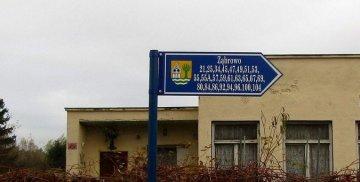 Oznakowanie kierunkowe w Ząbrowie